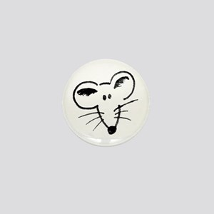 Rat Face Mini Button