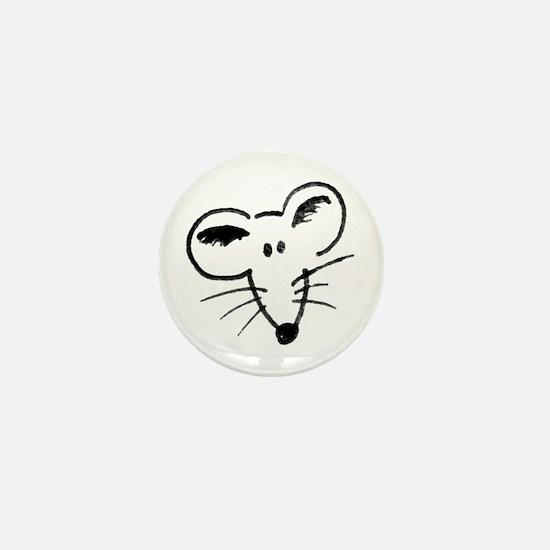 Rat Face Mini Button