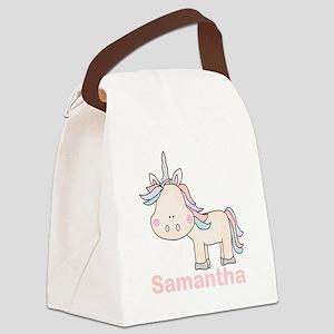 Samantha's Little Unicorn Canvas Lunch Bag