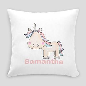 Samantha's Little Unicorn Everyday Pillow