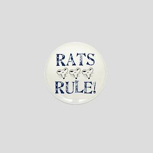 Rats Rule Rat Face Mini Button