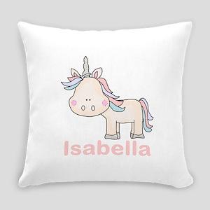 Isabella's Little Unicorn Everyday Pillow