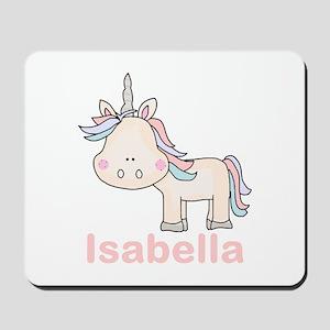 Isabella's Little Unicorn Mousepad