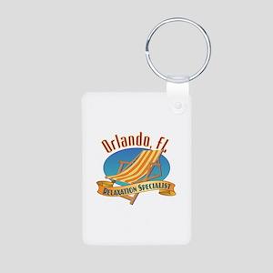 Orlando Florida Relax - Aluminum Photo Keychain