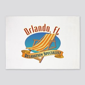 Orlando Florida Relax - 5'x7'Area Rug