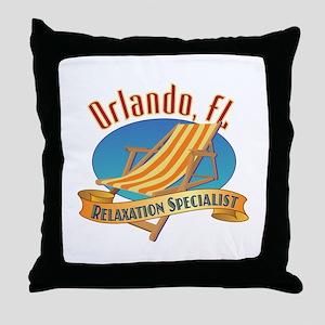 Orlando Florida Relax - Throw Pillow