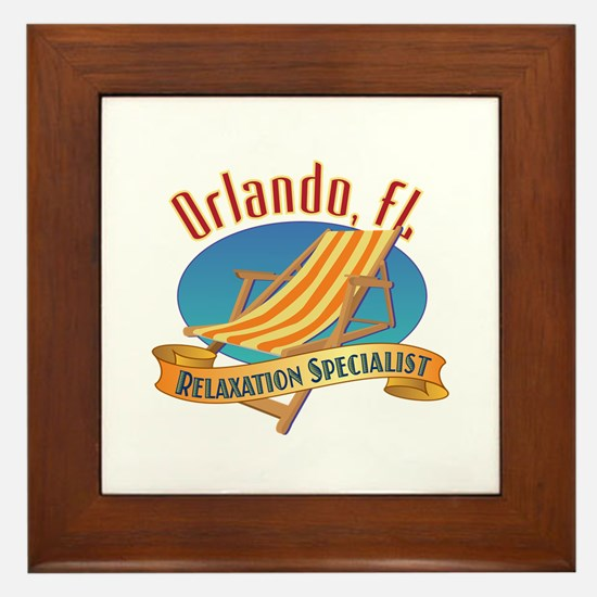 Orlando Florida Relax - Framed Tile