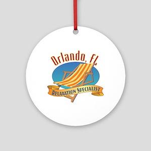 Orlando Florida Relax - Round Ornament