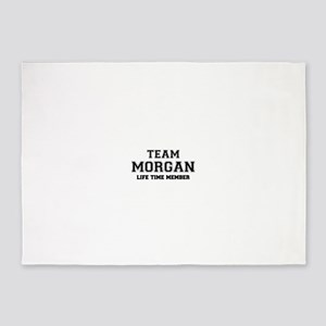Team MORGAN, life time member 5'x7'Area Rug