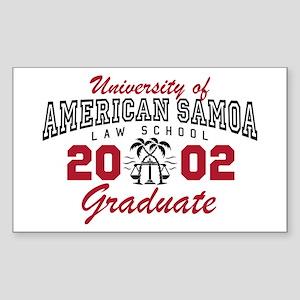 University Of American Samoa Grad Sticker