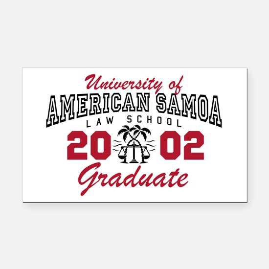 University Of American Samoa Grad Rectangle Car Ma