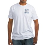 Rats Rule Rat Face Fitted T-Shirt