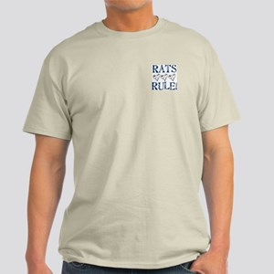 Rats Rule Rat Face Light T-Shirt
