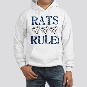 Rats Rule Rat Face Hooded Sweatshirt