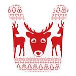 christmas deer shirt Polyester Baby Bib