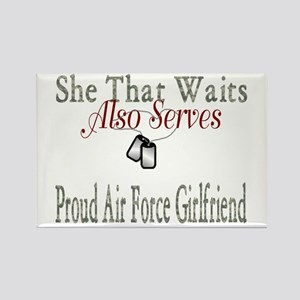 proud air force girlfriend Rectangle Magnet