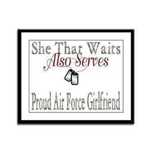 proud air force girlfriend Framed Panel Print