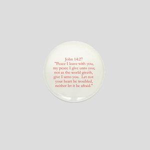 John 14:27 Mini Button