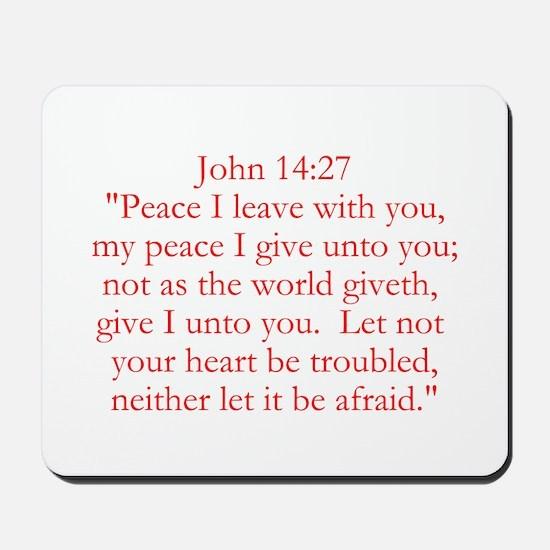 John 14:27 Mousepad