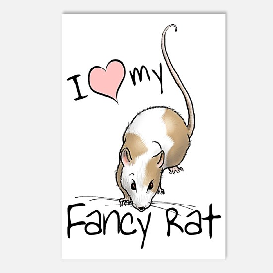 I Love My Fancy Rat Postcards (Package of 8)
