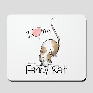 I Love My Fancy Rat Mousepad