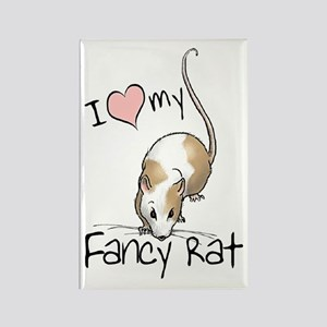 I Love My Fancy Rat Rectangle Magnet