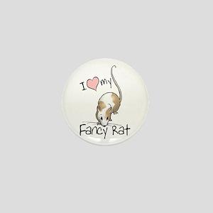 I Love My Fancy Rat Mini Button