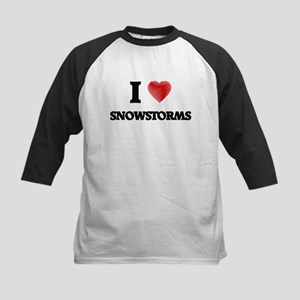 I love Snowstorms Baseball Jersey
