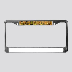 Abstract Night Cityscape License Plate Frame