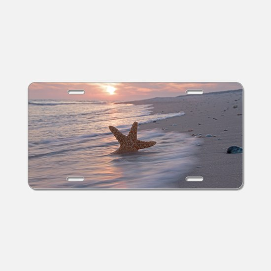 Cute Starfish Aluminum License Plate