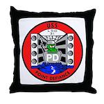 USS Point Defiance (LSD 31) Throw Pillow