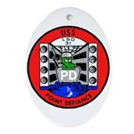 USS Point Defiance (LSD 31) Oval Ornament