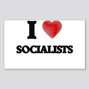 I love Socialists Sticker