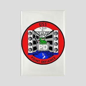 USS Point Defiance (LSD 31) Rectangle Magnet