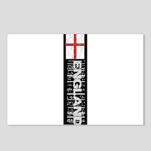 Vertical flag black Postcards (Package of 8)