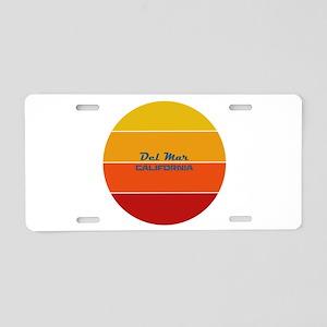 California - Del Mar Aluminum License Plate