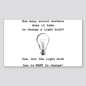 Social Work Light Bulb Joke Sticker