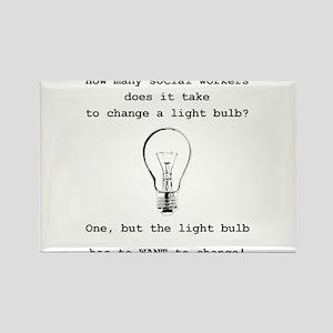 Social Work Light Bulb Joke Magnets