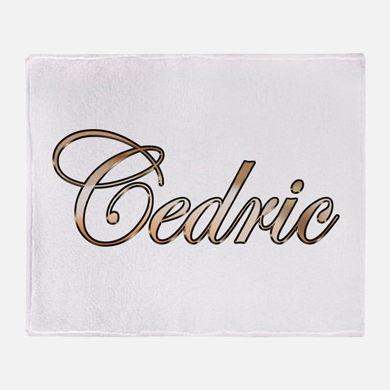 Gold Cedric Throw Blanket