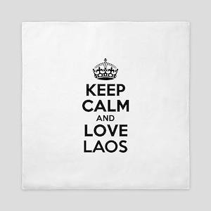 Keep Calm and Love LAOS Queen Duvet