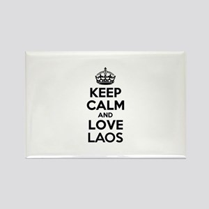 Keep Calm and Love LAOS Magnets