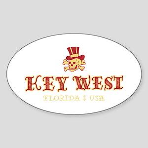 Key West Pirate - Sticker (Oval)