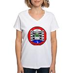 USS Point Defiance (LSD 31) Women's V-Neck T-Shirt