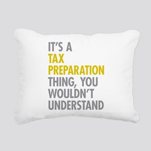 Tax Preparation Rectangular Canvas Pillow