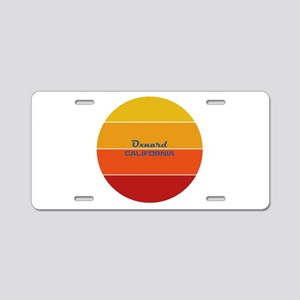 California - Oxnard Aluminum License Plate