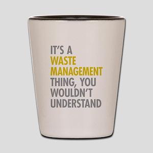 Waste Management Shot Glass