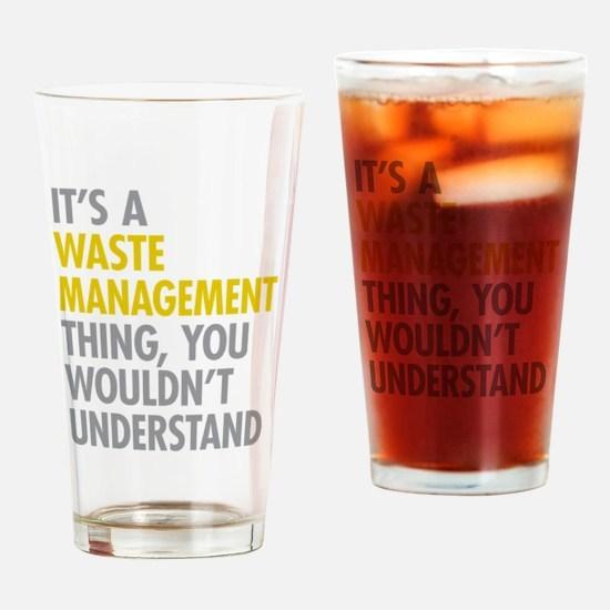 Waste Management Drinking Glass