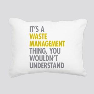 Waste Management Rectangular Canvas Pillow