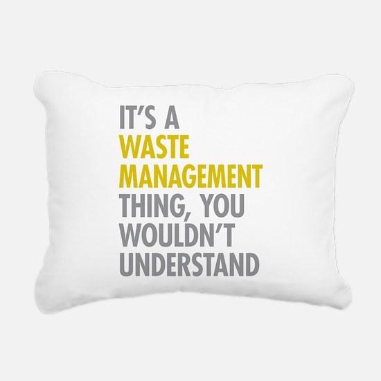 Waste Management Rectangular Canvas Pillow