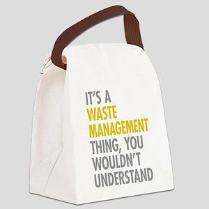 Waste Management Canvas Lunch Bag